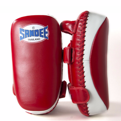 Sandee Curved Thai Kick Pads - Red